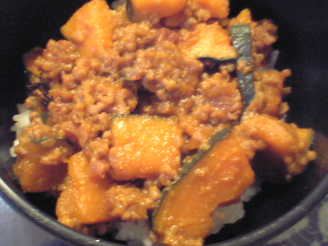 カボチャのニンニク味噌炒め